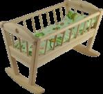Dřevěná-kolébka pro panenky