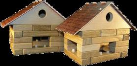 Dřevěná-stavebnice-kostky-domeček