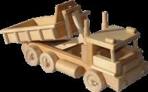 Dřevěné-auto-s kontejnerem